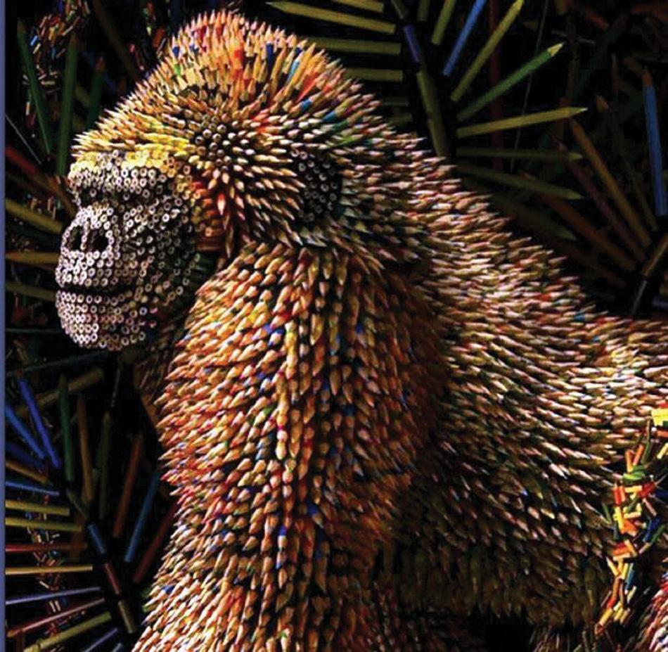 Gorilla pencil sculpture  Ricardo Salamanca