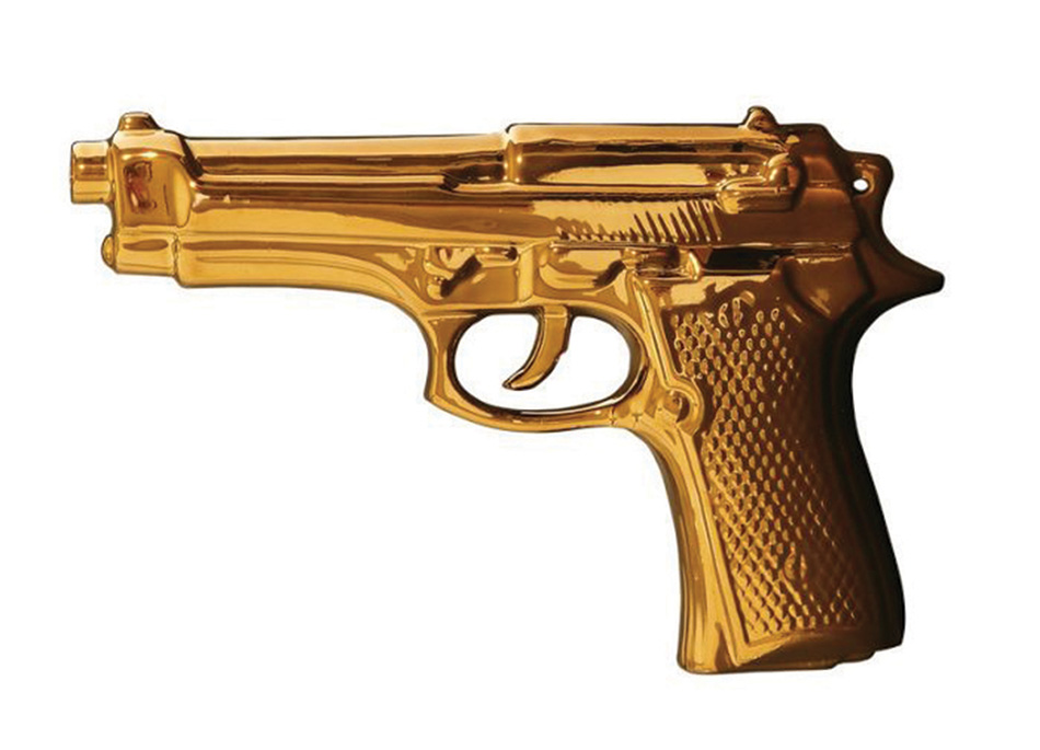 gold gun by Seletti Available from camilleriparismode