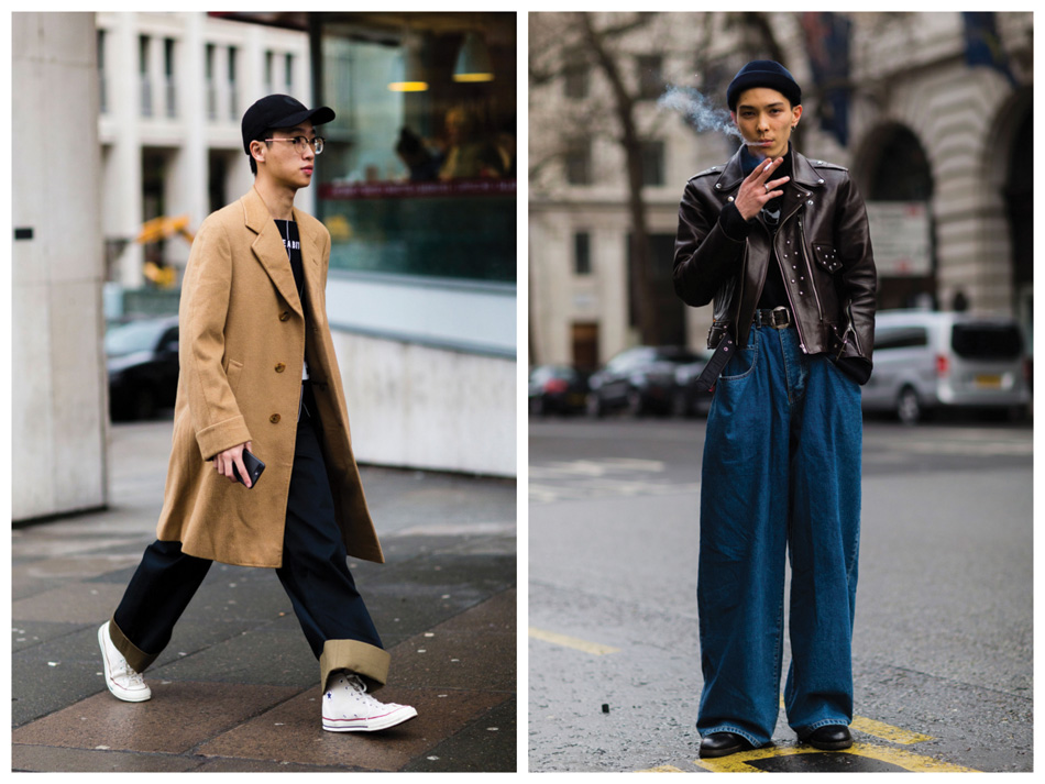 You can still get away with your skinny jeans, although baggy cuts are definitely winning