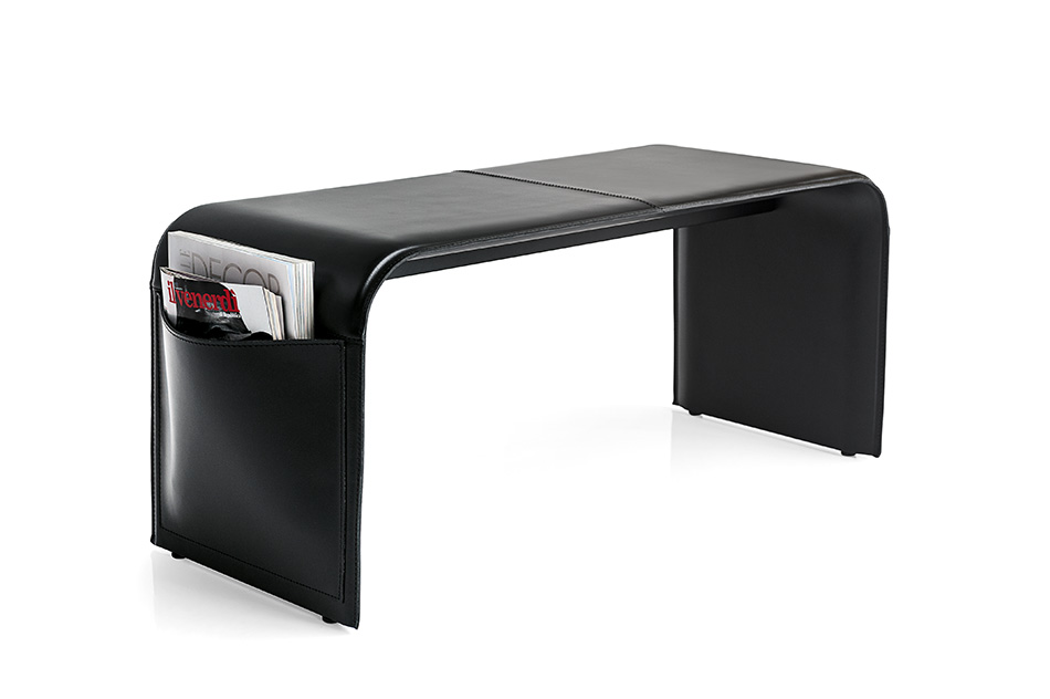 BLACK Calligaris Shape - Bench with side magazine pockets Available from Loft