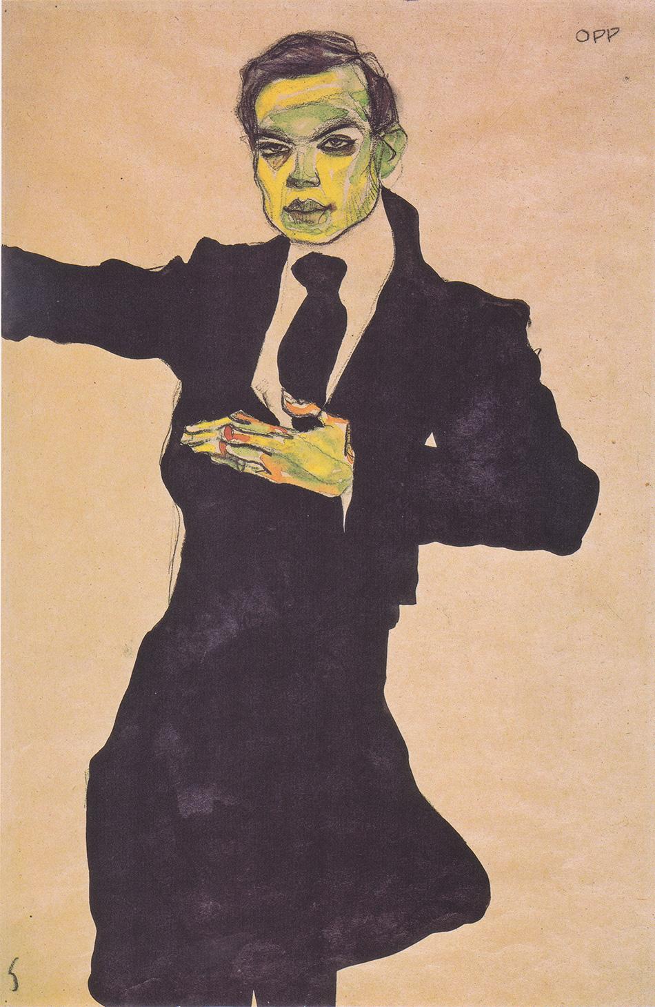 Egon_Schiele_-_Der_Maler_Max_Oppenheimer_-_1910