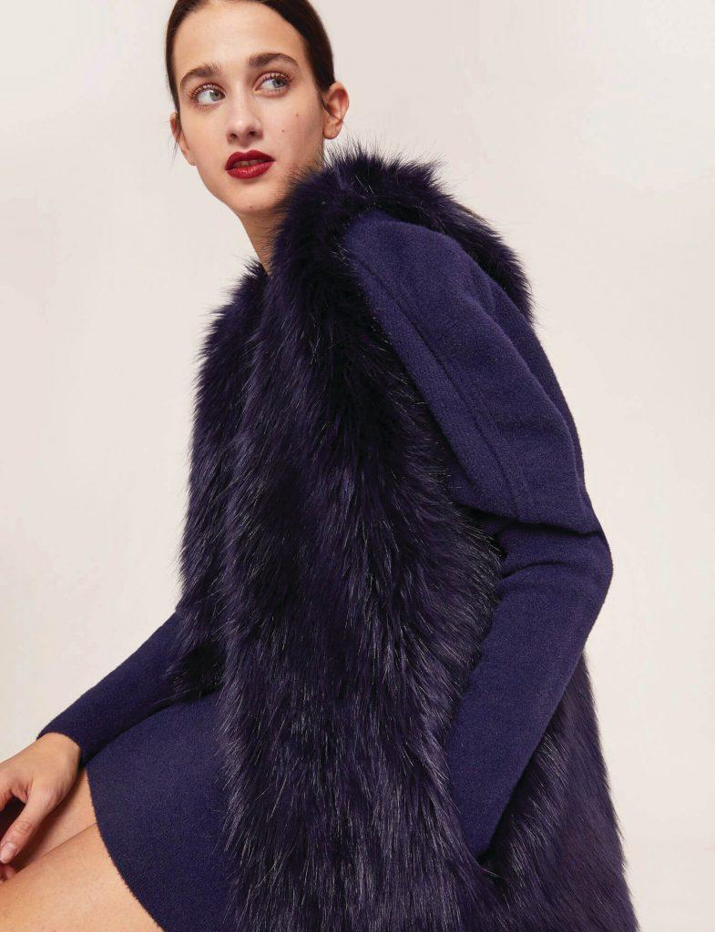 Armani Exchange Faux Fur Gilet